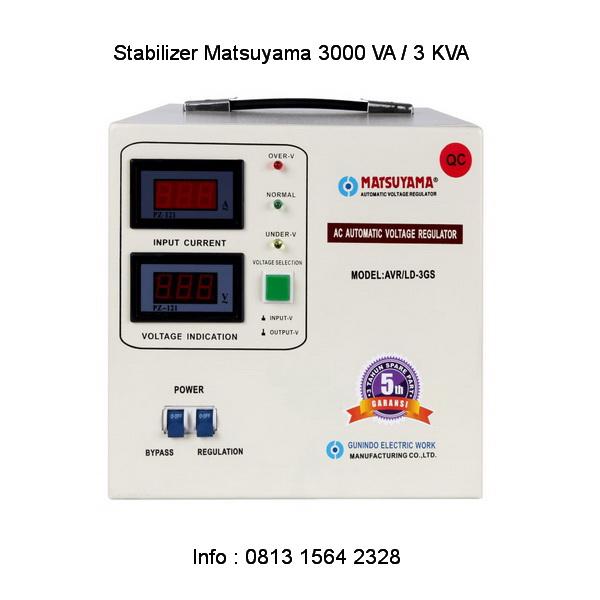 Stabilizer Matsuyama 3 KVA untuk listrik 2200 watt