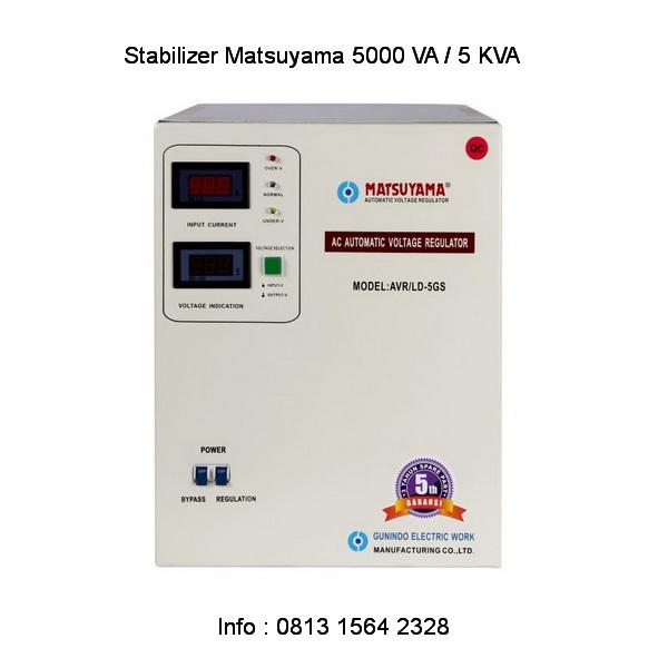 Stabilizer Matsuyama 5 kva untuk listrik 3300 watt